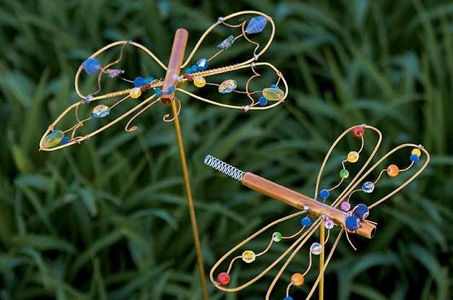 Украшение - бабочки из проволоки