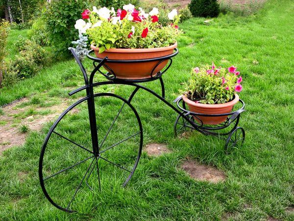 Клумба - велосипед