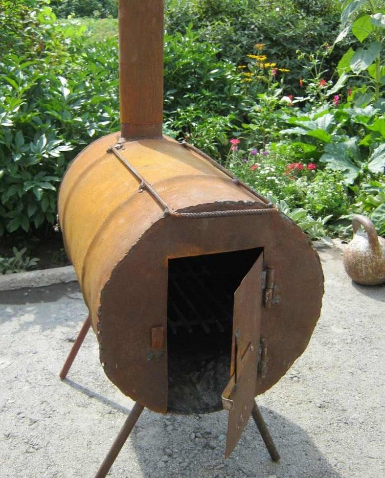 Изготовление печки на дровах