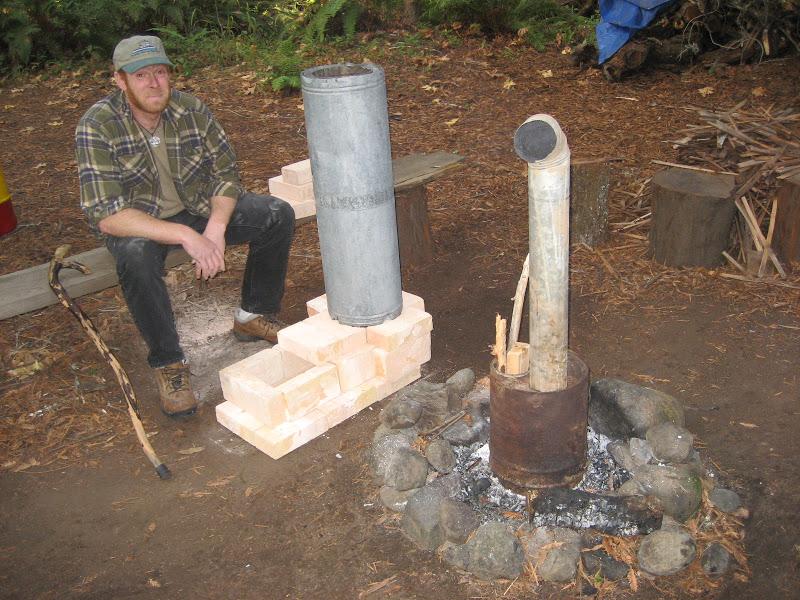 Изготовление реактивной печи из кирпича и металлической бочки