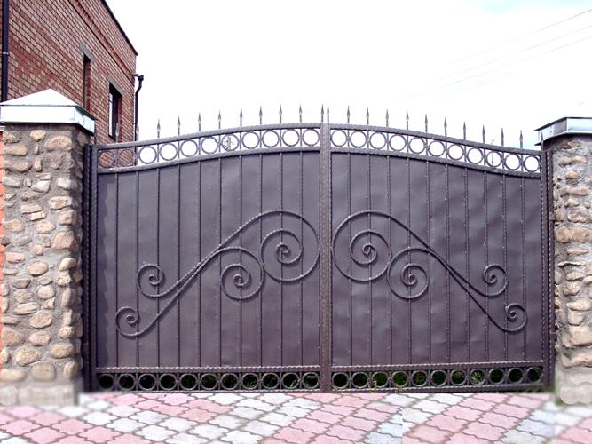 Как сделать кованые ворота самостоятельно