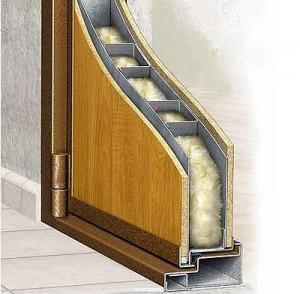 Как утеплить железную входную дверь