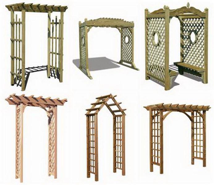 Конструкция садовой арки