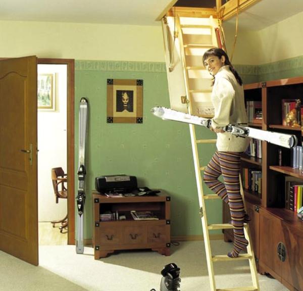 Лестница на чердак своими руками