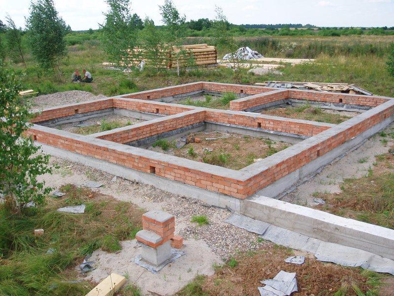 Мелкозаглубленный фундамент из кирпича или блоков
