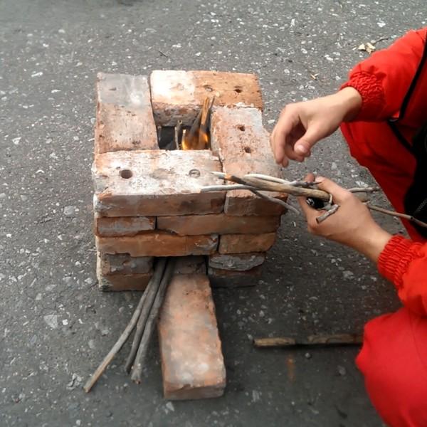 Мини-печь реактивная, растопка