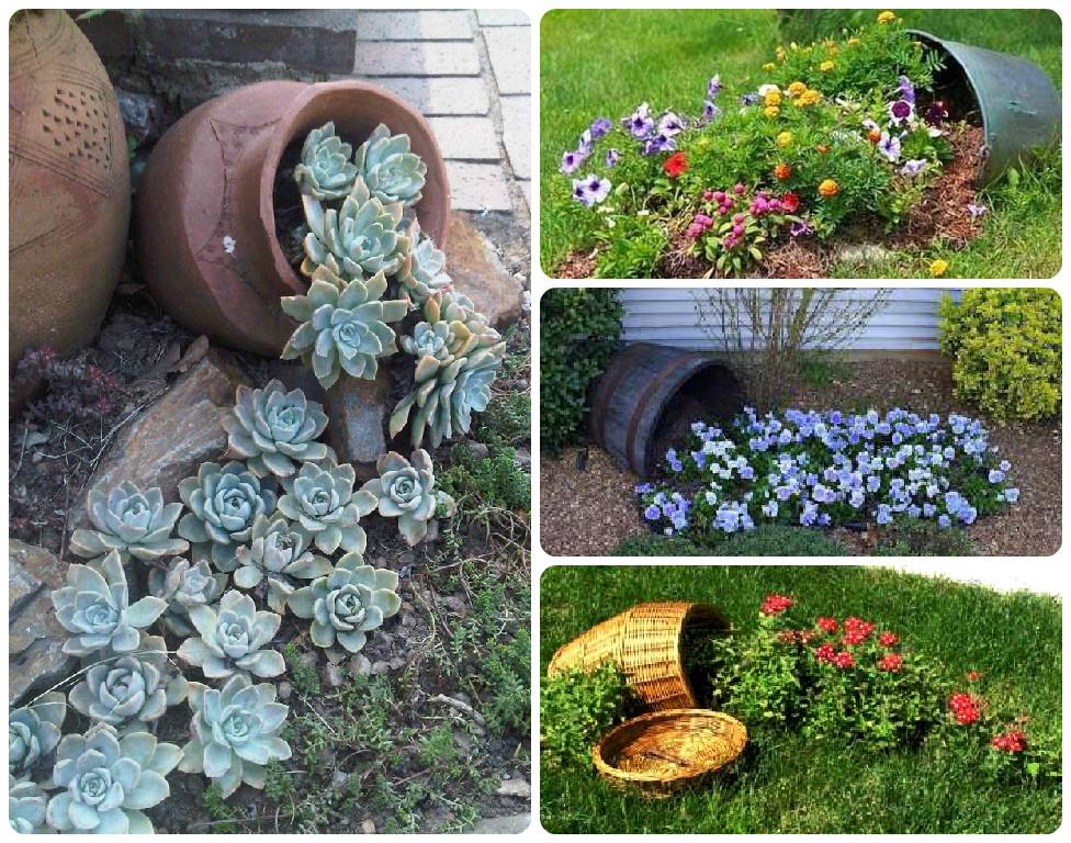 Несколько интересных идей для цветочного ручья на участке