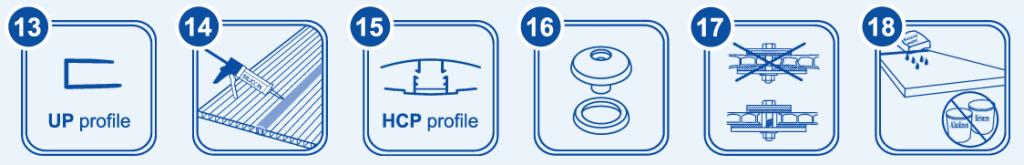 Общие принципы монтажа сотового поликарбоната