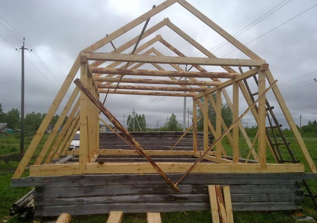 Строительство ломаной крыши