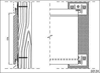 Стыкование и крепление двух фиброцементных досок на опорном бруске