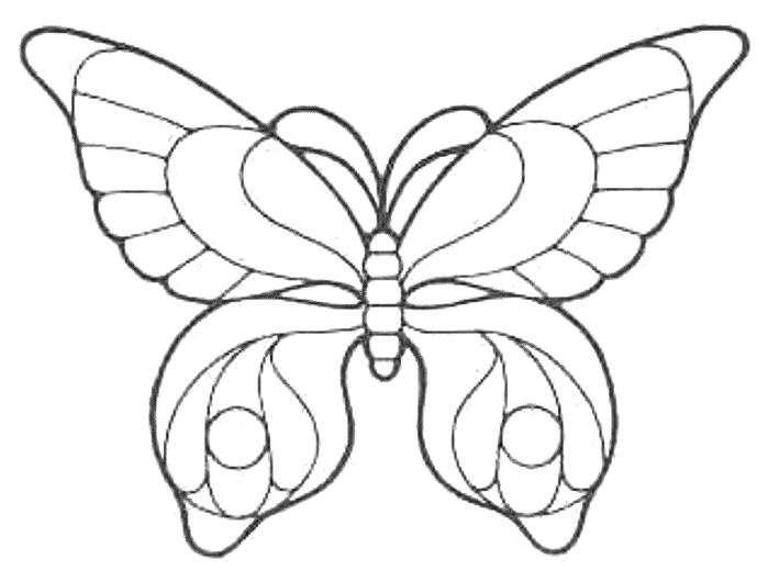 Трафарет для создания бабочки из бутылки