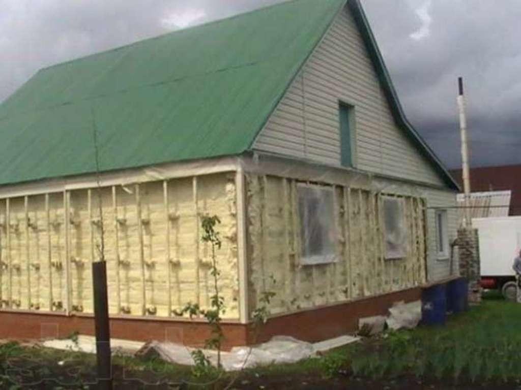 Утепление деревянного дома минватой снаружи