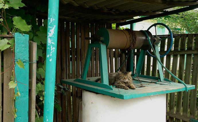 Защитите колодец от попадания внутрь мусора и животных