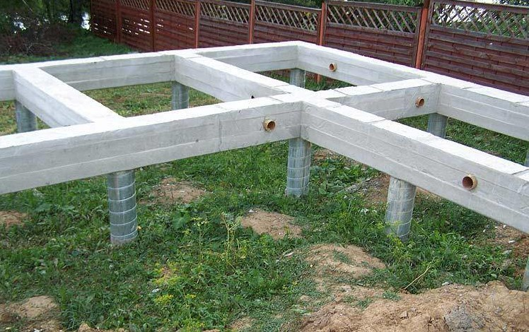 Столбчато-ленточный фундамент дома