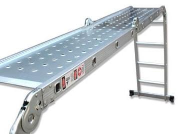 Алюминиевые лестницы в два раза легче стальных