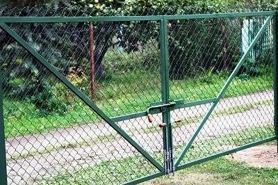 Как сделать ворота из сетки рабицы для дачи – пошаговое изготовление