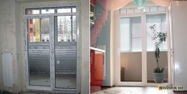 Установка французского окна вместо балконного блока - готовый вариант