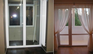 Установка французского окна в пол вместо балконного блока в квартире