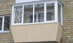 Остекление балкона с выносом подоконника в хрущевке