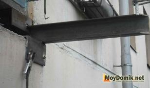 Усиление балконный плиты швеллером