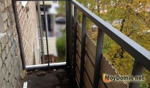 Каркас балконного парапета из стальной профильной трубы