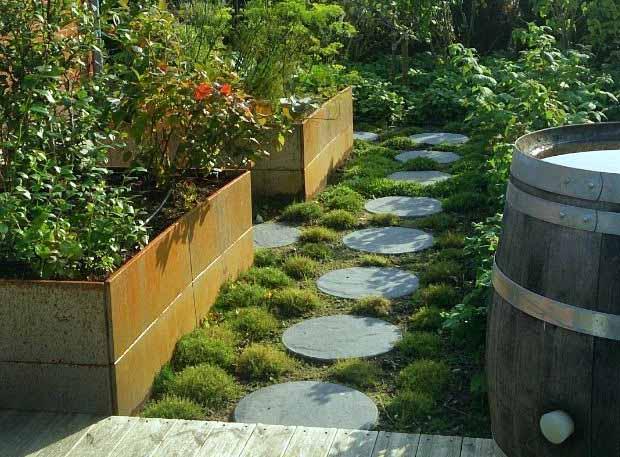красивый огород во дворе дома