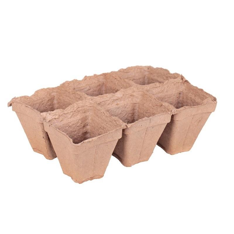 Торфяные горшки выпускаются и в виде удобных кассет для рассады