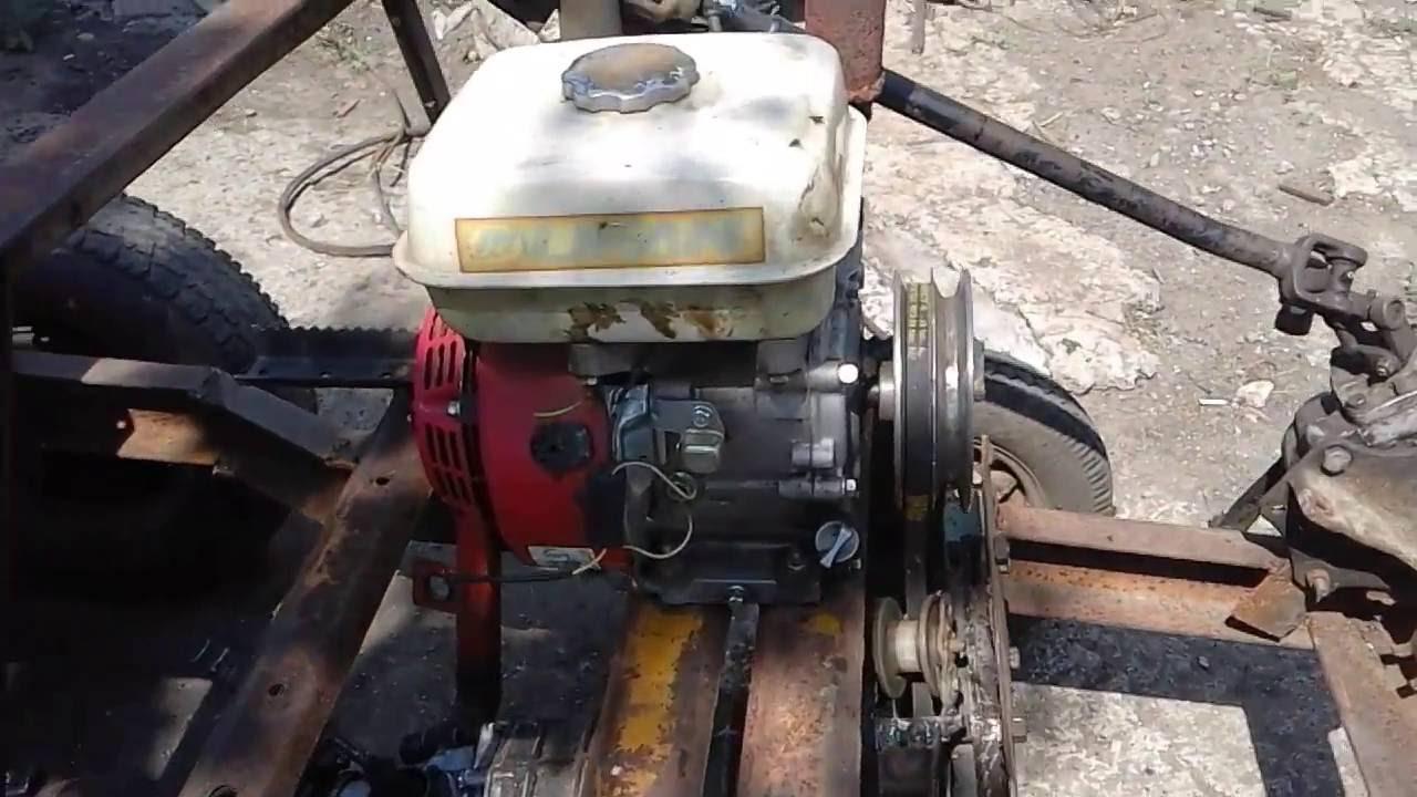 Установка двигателя от мотоблока на раму
