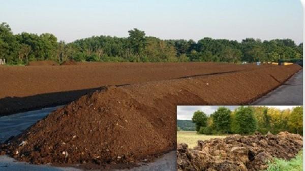 Как происходит переработка навоза по типу компостирования