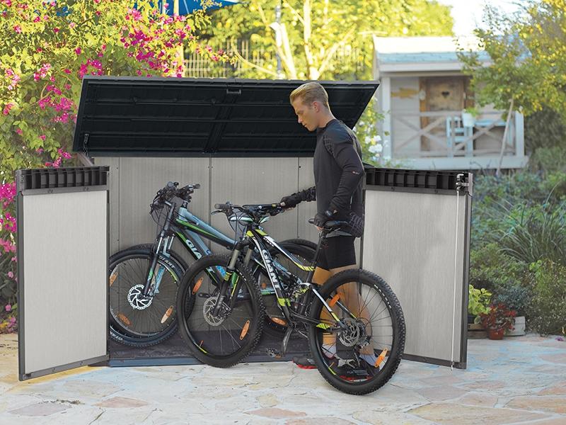 Для велосипедов тоже можно сделать своего рода гараж