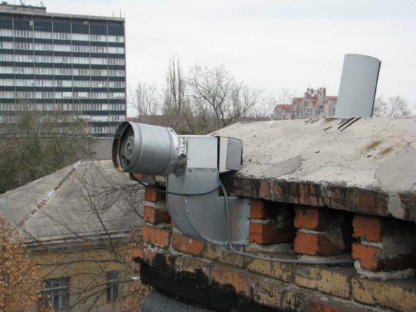 Воздушный отвод многоквартирного дома