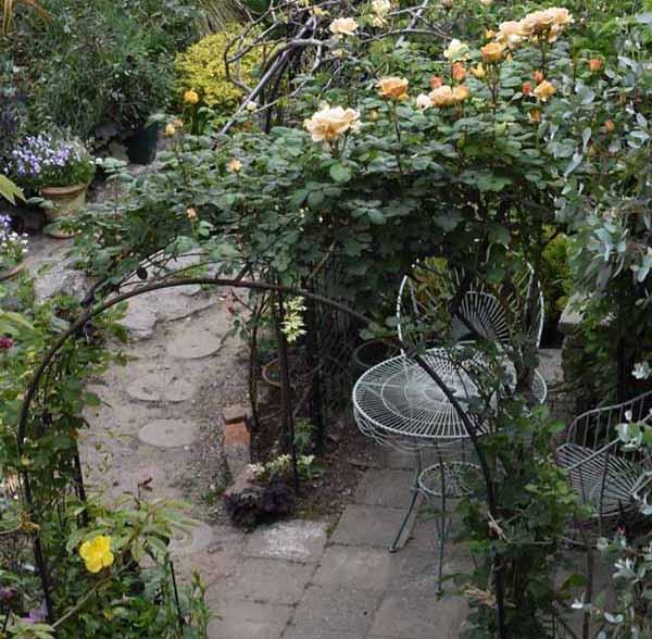 красивый двор частного дома фото беседки