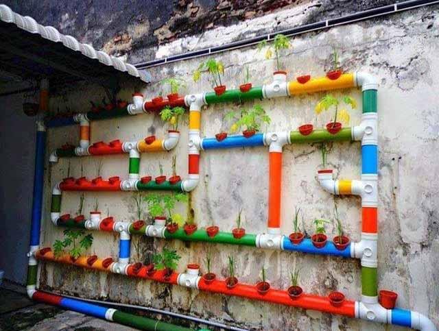вертикальное озеленение пвх трубы