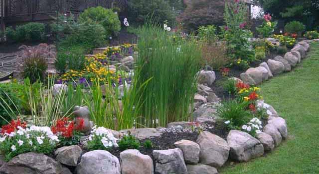 садовый бордюр из камня