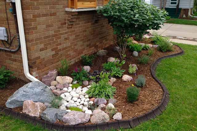 современный садовый бордюр