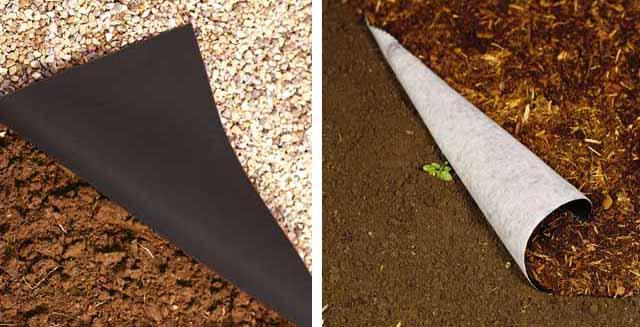 садовый бордюр агроволокно