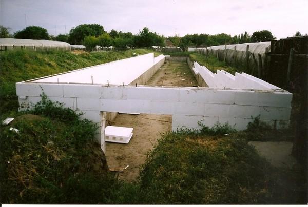 Обычно для стен теплицы используют блоки из пенополистирола