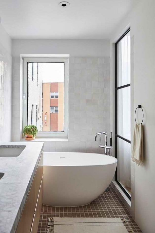Интерьер ванной в сканди-стиле
