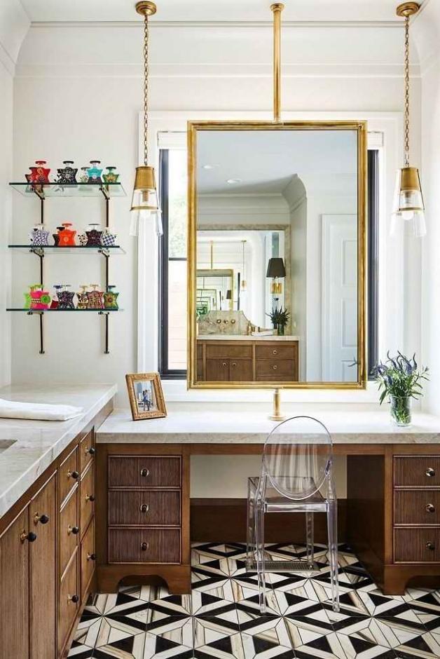 Классический стиль оформления ванной