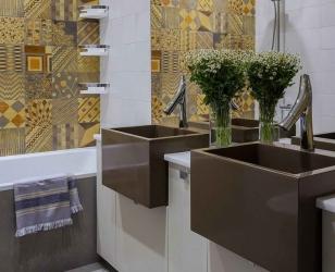 Кантри-стиль в ванной комнате