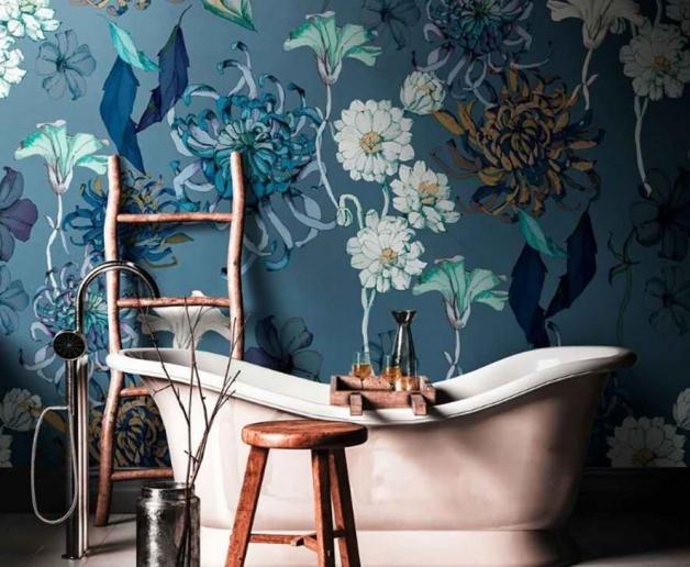 Деревенский стиль в ванной комнате
