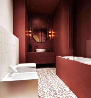 Контрастная ванная комната