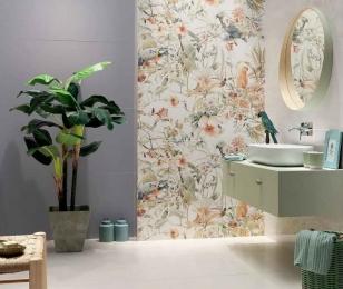 Зелень в интерьере ванной