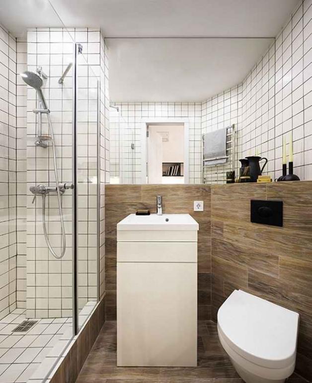Компактное использование пространства ванной