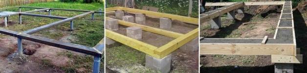 Ростверк металлический, деревянный, бетонный
